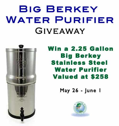 Giveaway for a Big Berkey Water Purifier | Homestead Honey
