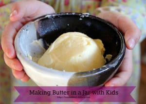making butter in a jar