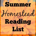 Summer Homestead Reading List