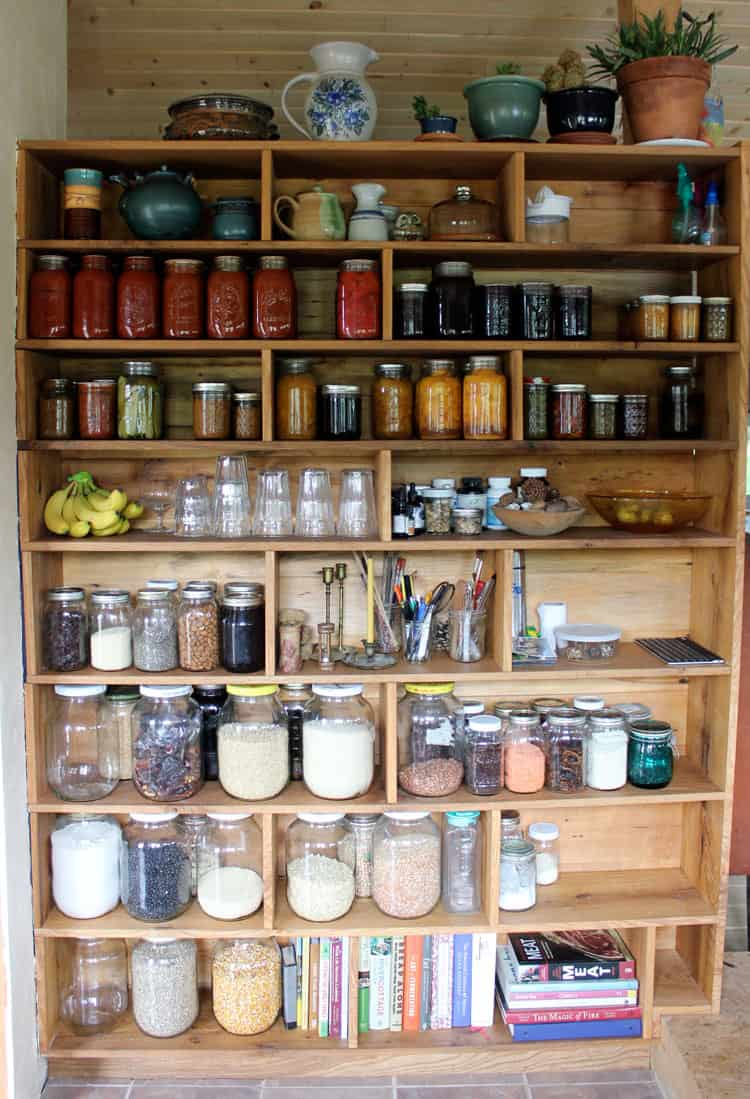 Storing canned goods in our custom built homestead pantry | Homestead Honey