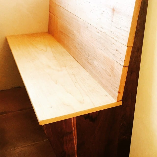 Built-in booth seating, coming along!! #kitchen #homestead #building #tinyhouse #tinyhouseliving…