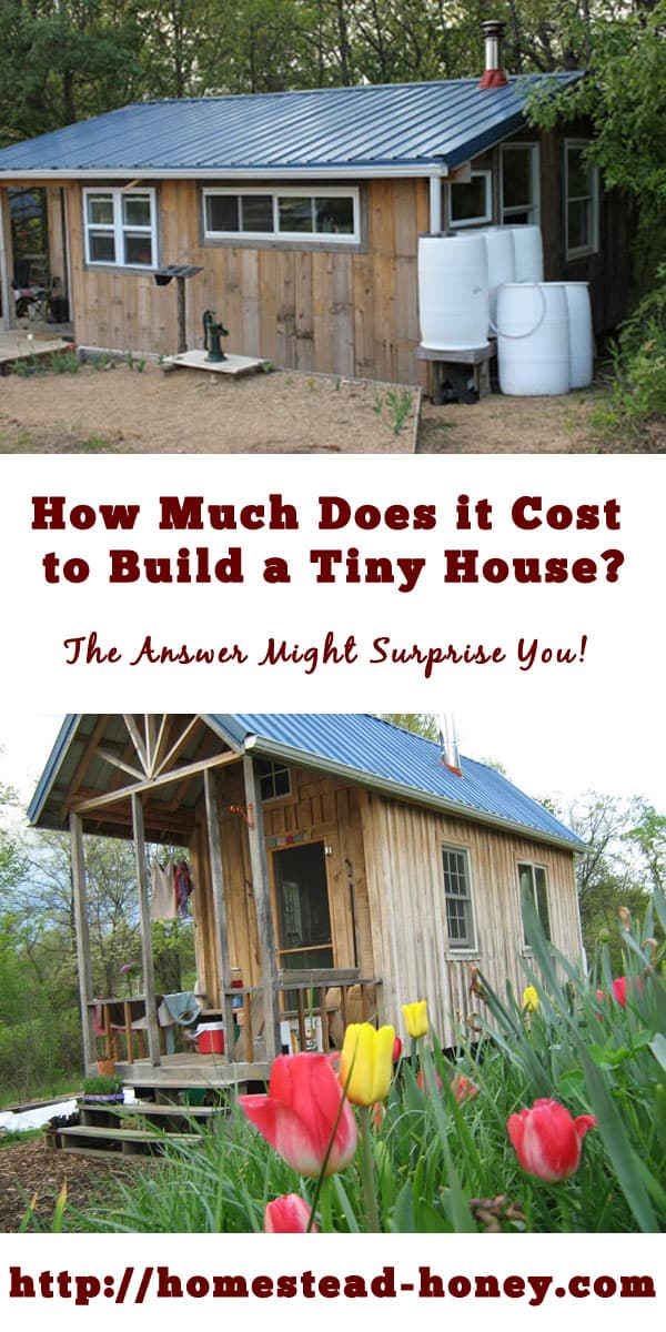 How much does it cost to build a tiny house? | Want to live in a tiny house and worry if your budget will be enough for your new home? Here are two real-life examples of hand-built tiny house costs. | Homestead Honey #tinyhouse #minimalism