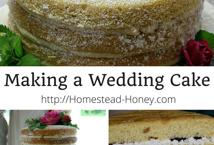 "Making a Wedding Cake - a four part series chronicling our experience baking a rustic, ""naked"" cake for 200 guests. 