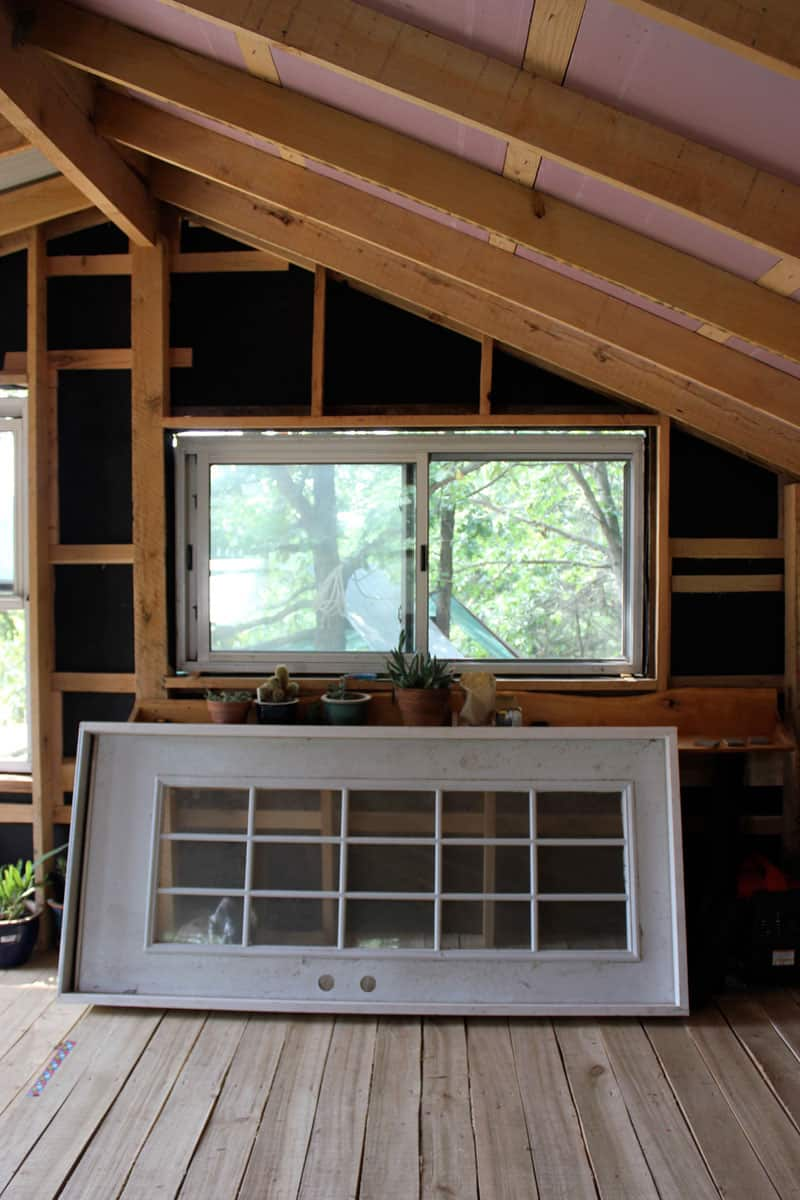 Building A Tiny House Windows Framing And Doors