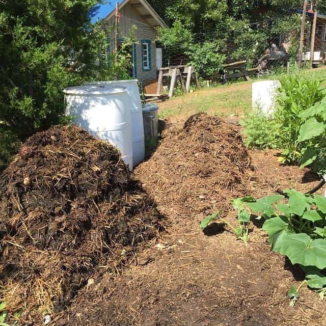 Compost is a great way to add fertility to your garden and improve the health of your soil. | Homestead Honey