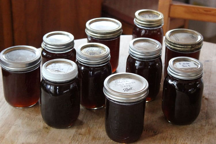 canned black walnut syrup