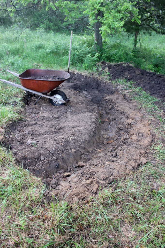 digging a duck pond by hand | Homestead Honey