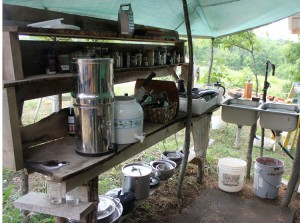 Outdoor Kitchen counter and food prep space | Homestead Honey