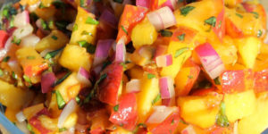 Fresh peach salsa recipe | Homestead Honey