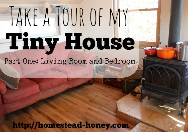 Come along on a video tour of our 350 square foot Tiny House and learn how a family of four fits into such a small space! | Homestead Honey