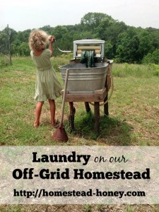 Laundry on our off-grid homestead | Homestead Honey