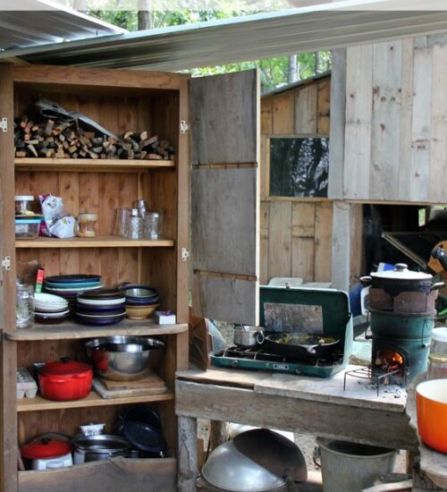 Take a tour of our off-grid homestead's outdoor kitchen remodel | Homestead Honey