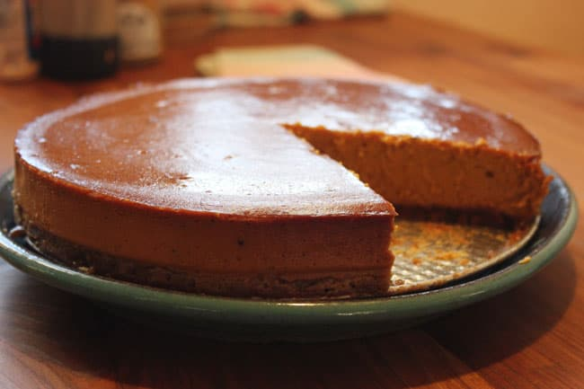 This sweet and spicy winter squash cheesecake recipe is the perfect Autumn dessert | Homestead Honey