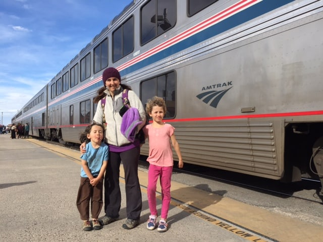 All aboard! Train travel with kids can be an affordable and fun way to see the country. Here are my best tips on how to travel by train, on a homesteader's budget | Homestead Honey