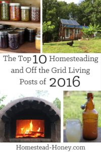 The top Homesteading and Off the Grid Posts of 2016 | Homestead Honey