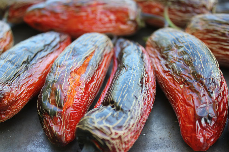Jalapenos have been fire-roasted in preparation for fermentation. | Homestead Honey