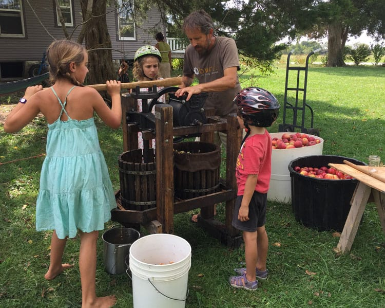 Pressing cider is not only fun, but a quick and easy way to extract juice from apples for making hard cider.