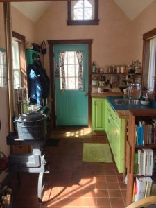 Interior of the tiny house