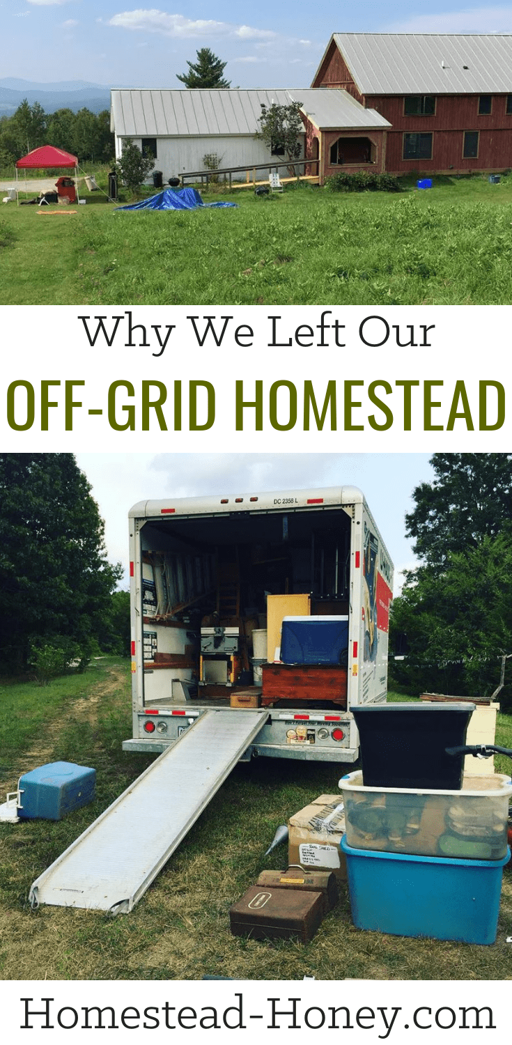 Why we left our off-grid homestead |  Having lived in our off-grid tiny house self-sufficiently with our small kids for several years we decided to leave. Find out why and what's next |#homesteading #offgridliving