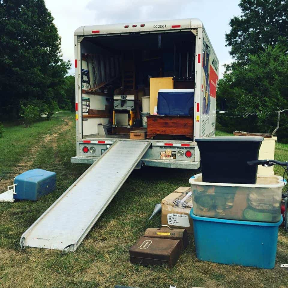 Preparing to leave our off-grid homestead and packing the moving truck