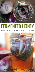 Fermented Honey with Red Onions and Thyme