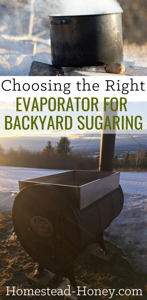 Choosing the Right Evaporator for Backyard Sugaring