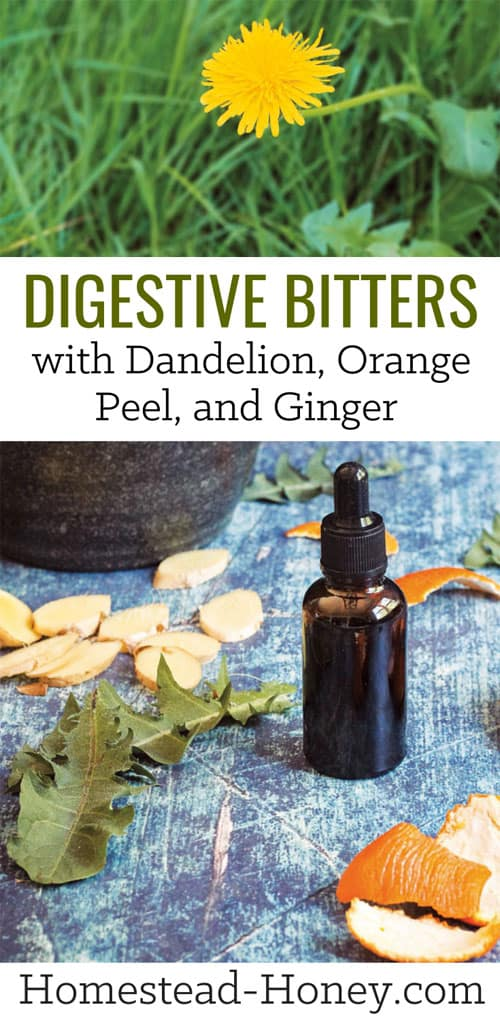 Take these digestive bitters with dandelion, orange peel, and ginger before a meal to kickstart your digestiion